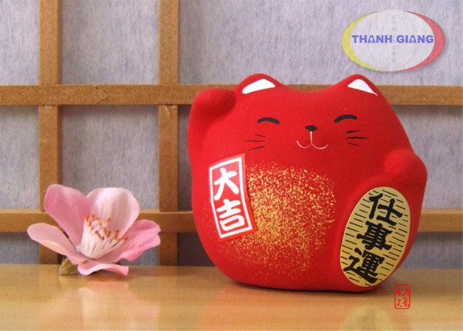 mèo Maneki neko đỏ