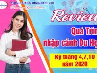 Review quá trình nhập cảnh du học kỳ tháng 4,7,10/2020