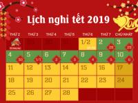 Thanh Giang  - Thông báo lịch nghỉ Tết Nguyên Đán – Kỷ Hợi năm 2019