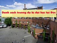 """""""Cập nhật"""" danh sách trường dự bị đại học tại Đức"""