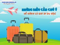 Chú ý về CÂN NẶNG hành lý khi đi du học Hàn Quốc