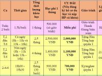 Lịch khai giảng các khóa tiếng Hàn trung tâm Thanh Giang