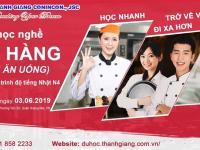 THÔNG BÁO: khai giảng lớp kỹ năng nghề nhà hàng dịch vụ ăn uống tháng 6/2019