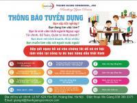 Thanh Giang Conincon thông báo tuyển dụng 2019