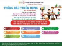 Tin tuyển dụng nhân sự công ty du học Thanh Giang 2019