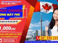 Du học Canada không mất phí (Miễn phí dịch vụ trị giá lên đến 1000 USD)