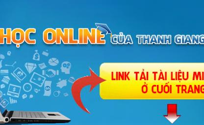 HỌC ONLINE CỦA THANH GIANG ELEARNING
