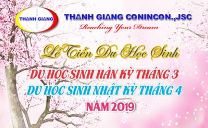 Tiệc chia tay du học sinh Hàn - Nhật kỳ tháng 3,4 2019