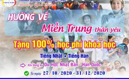 Ưu đãi đặc biệt: Tặng học phí 6 tháng cho học viên tại 4 tỉnh miền Trung đăng ký hồ sơ tại Thanh Giang